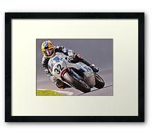 Classic motorbike racing. Bike 32. Framed Print