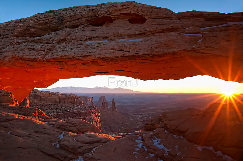 Sunrise at Mesa Arch, Canyonlands by FranJ