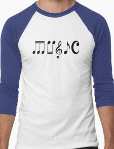 Music Logo  Men's Baseball ¾ T-Shirt