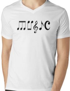 Music Logo  Mens V-Neck T-Shirt