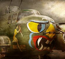 Plane - Pilot - Airforce - Dog Daize by Mike  Savad