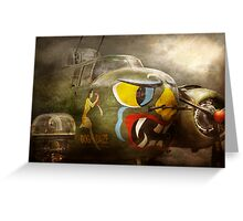 Plane - Pilot - Airforce - Dog Daize Greeting Card