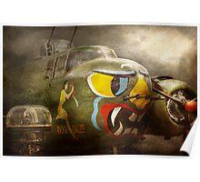 Plane - Pilot - Airforce - Dog Daize Poster