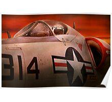 Plane - Pilot - Airforce - Go get em Tiger  Poster