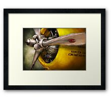 Plane - Pilot - Prop - Twin Wasp Framed Print