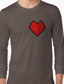 Pixel heart - I love retro Long Sleeve T-Shirt