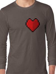 Pixel heart - I love retro Long Sleeve T-Shirt