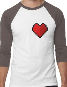 Pixel heart - I love retro Men's Baseball ¾ T-Shirt