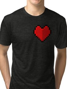 Pixel heart - I love retro Tri-blend T-Shirt