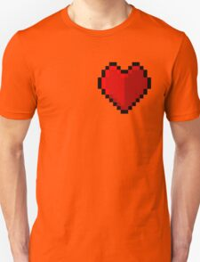 Pixel heart - I love retro Unisex T-Shirt