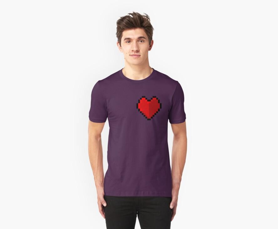 Pixel heart - I love retro by eaaasytiger