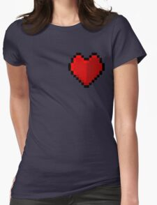 Pixel heart - I love retro Womens Fitted T-Shirt