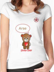 GeekGirl - Brown SwearBear Women's Fitted Scoop T-Shirt