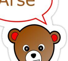 GeekGirl - Brown SwearBear Sticker