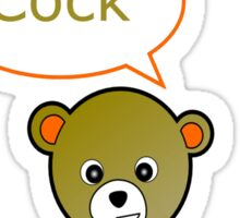GeekGirl - Light Brown SwearBear Sticker