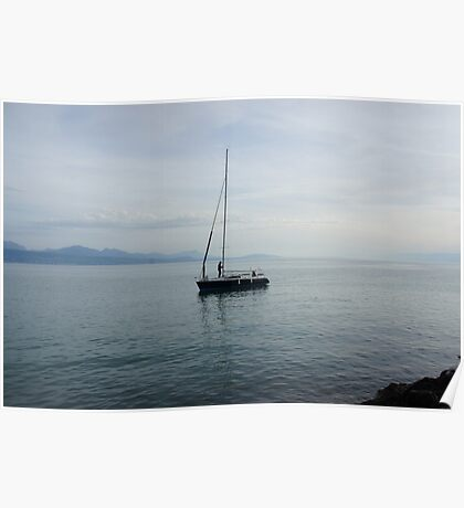 Truman show - lonely boat Poster