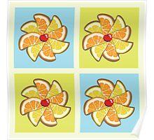 Citrus Pinwheel Poster