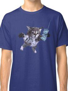 Funny grunge cat Classic T-Shirt