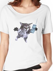Funny grunge cat Women's Relaxed Fit T-Shirt
