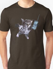 Funny grunge cat. Music band  T-Shirt