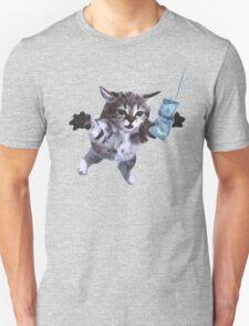 Funny grunge cat Unisex T-Shirt