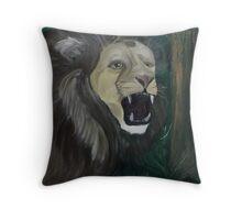 Alpha Male African Lion Throw Pillow