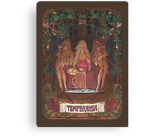 La Temperanza (Temperance, tarot card) Canvas Print