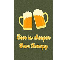 Beer Therapy Photographic Print