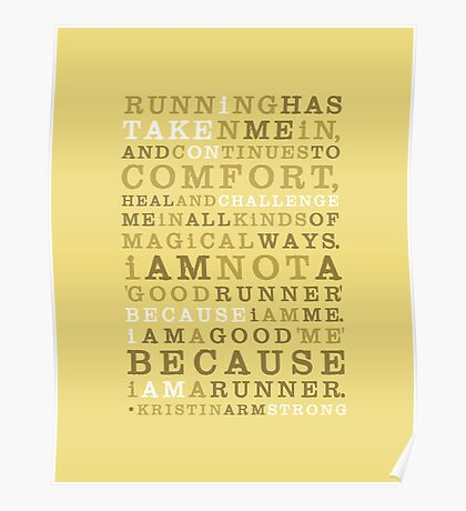 Strong Runner • Golden Poster