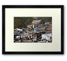 Slum Laundry Framed Print