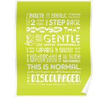 Artist's Way • Chartreuse Poster