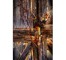 Weathered Barn Door Photographic Print