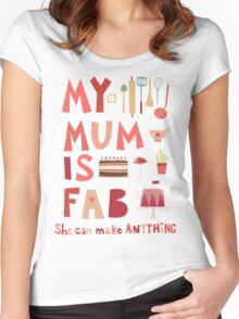 My Mum is Fab Women's Fitted Scoop T-Shirt