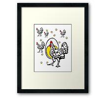 Roseanne Chicken Framed Print