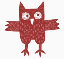 Red Owl One Piece - Long Sleeve