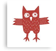 Red Owl Canvas Print