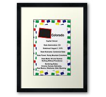Colorado Information Educational Framed Print