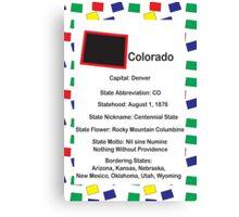 Colorado Information Educational Canvas Print