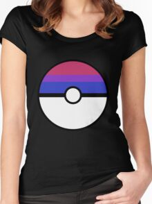 "Pokeball ""Bisexual Ball"" LGBTQ Shirt/etc Women's Fitted Scoop T-Shirt"