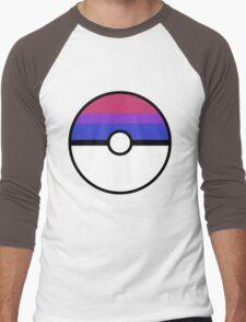 "Pokeball ""Bisexual Ball"" LGBTQ Shirt/etc Men's Baseball ¾ T-Shirt"
