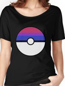 "Pokeball ""Bisexual Ball"" LGBTQ Shirt/etc Women's Relaxed Fit T-Shirt"