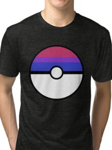 "Pokeball ""Bisexual Ball"" LGBTQ Shirt/etc Tri-blend T-Shirt"