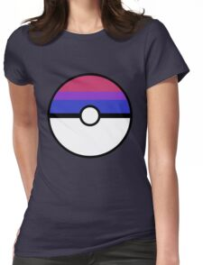 "Pokeball ""Bisexual Ball"" LGBTQ Shirt/etc Womens Fitted T-Shirt"