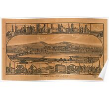 Panoramic Maps Towanda Pa 1880 Poster