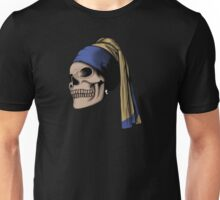 The Skull with a Pearl Earring Unisex T-Shirt