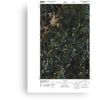 USGS Topo Map Washington State WA Helmer Mountain 20110510 TM Canvas Print