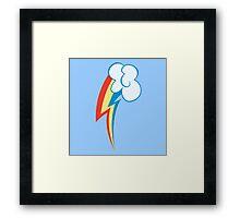 My little Pony - Rainbow Dash Cutie Mark Framed Print