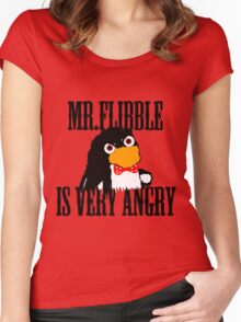 Mr.flibble is very angry Women's Fitted Scoop T-Shirt