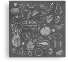 Fruity Drawings Canvas Print