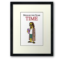 Dude of the year. Framed Print